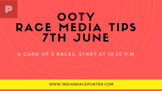 Ooty Race Media Tips, Trackeagle, Racingpulse