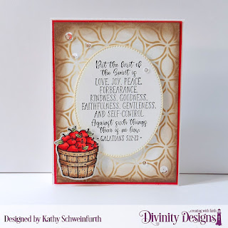 Divinity Designs Stamp Set: Fruit of the Spirit, Pierced Ovals, Media Stecils: Petals