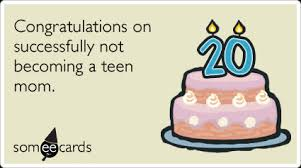 Funny 20th Birthday 4 Sayings