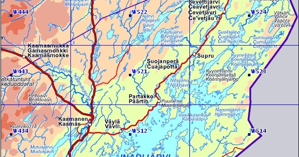 enaresjøen kart Bjarnes turblogg: Finske kart enaresjøen kart