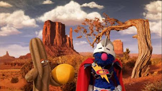 Super Grover 2.0 Prickly Problem, A cactus plays with its ball the ball pops, Sesame Street Episode 4406 Help O Bots, Help-O-Bots season 44