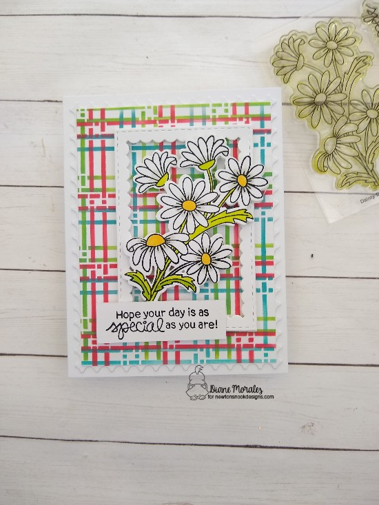 Hope your day is as special as you are by Diane features Dainty Daisies, Plaid, and Framework by Newton's Nook Designs; #newtonsnook