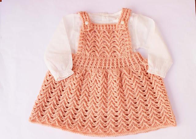 6 - Crochet Imagen Falda con peto a crochet y ganchillo por Majovel Crochet