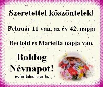 Február 11,  névnap