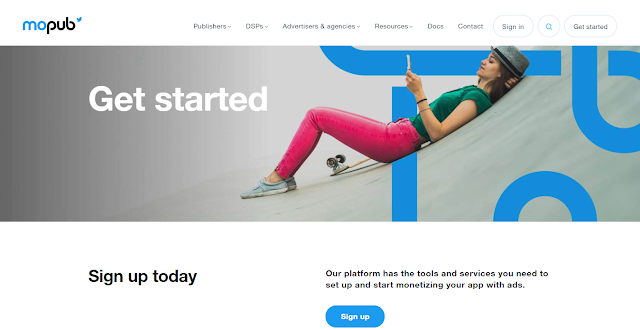 MoPub Website Homepage Screnshot