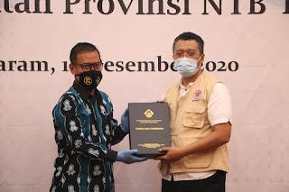 Terima LHP dari BPK, Pemprov NTB Dinilai Sukses Kelola Anggaran Kesehatan Covid19
