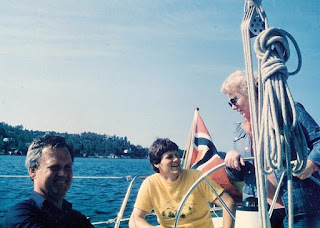 Logan with Magne and Edie Sailing in Norway