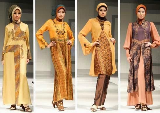 Koleksi model baju batik muslim wanita terpopuler