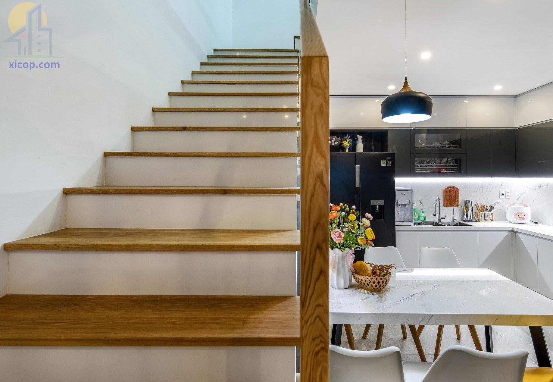 Nội thất nhà 3 tầng đẹp hiện đại, thiết kế kiểu nhà ống
