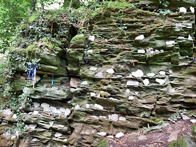 Messages on stones left at St.Nectan's Waterfall, Cornwall