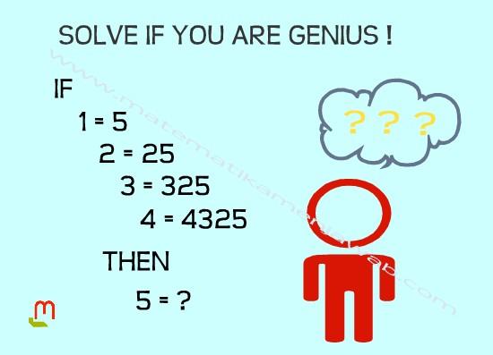puzzle matematika if 1 = 5