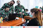 Sukseskan Program Pemerintah, Korem 143/HO Gelar Serbuan Vaksinasi TNI di Sultra