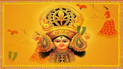 Happy Navratri Maa Ambe HD Wallpaper