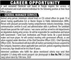 PO Box No 790 Daily Jang Lahore Jobs
