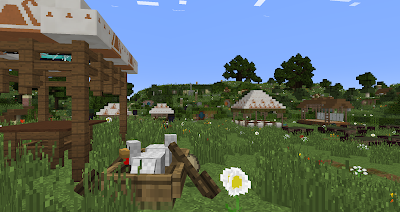 minecraft hobbiton bagshot row party field chickens