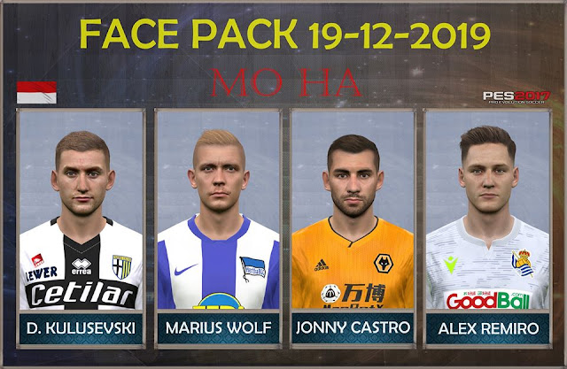 PES 2017 Face Pack 19.12 by Mo Ha