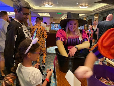 Trick or treating on board Disney Fantasy cruise ship