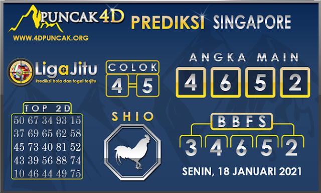 PREDIKSI TOGEL SINGAPORE PUNCAK4D 18 JANUARI 2021