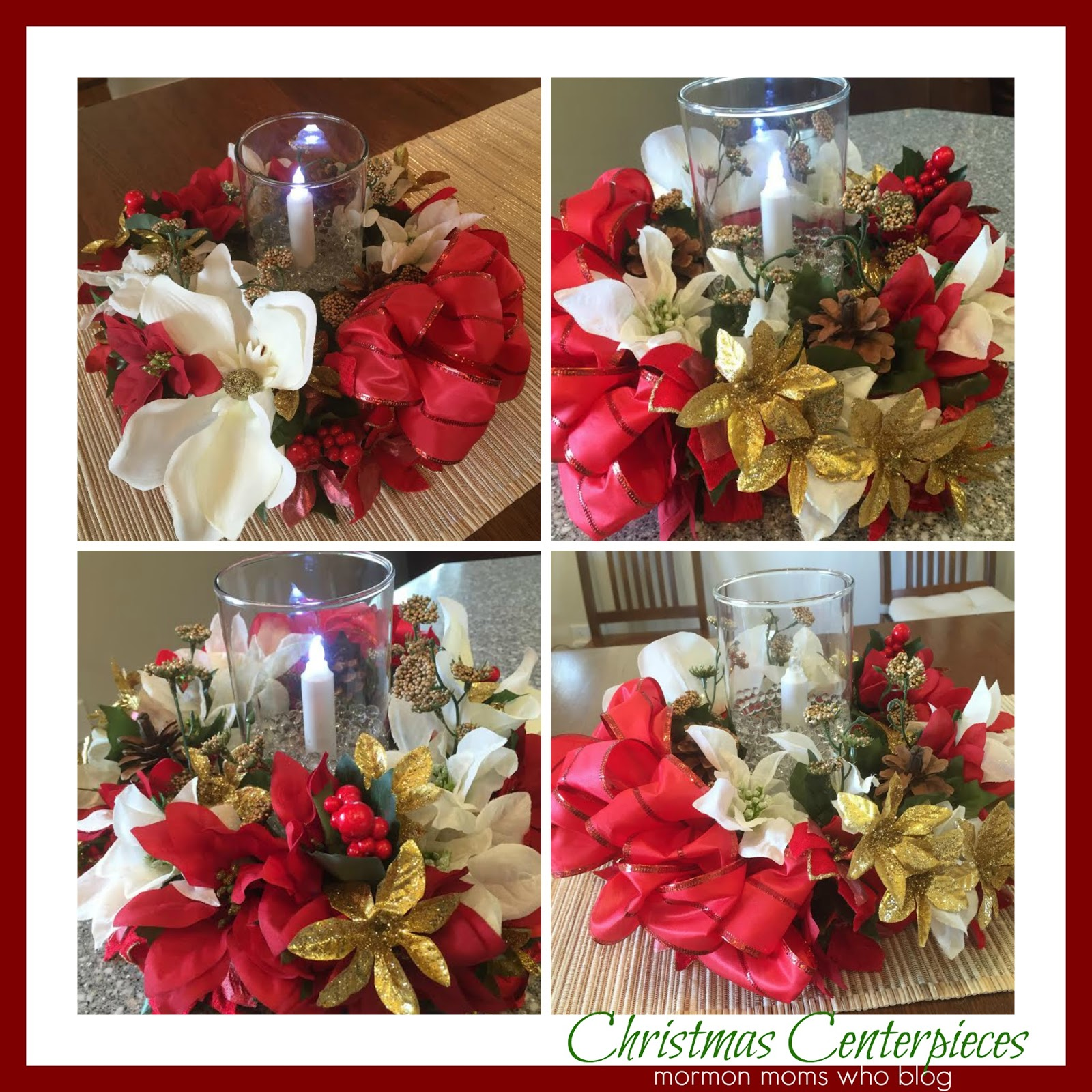 Here S An Inexpensive Idea For Beautiful Christmas Table Centerpieces Using Items From The Dollar