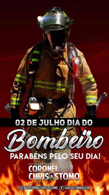 Deputado federal Coronel Chrisóstomo presta homenagem aos Bombeiros