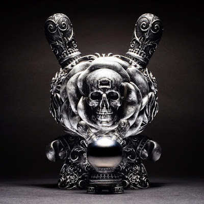 "Antique Silver Edition The Clairvoyant Dunny 8"" Vinyl Figure by J*RYU x Kidrobot"
