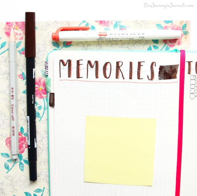 October blank monthly memories spread