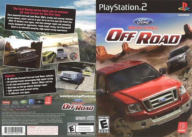 Descargar Ford Racing - Off Road ps2 iso NTSC-PAL. Es una serie de videojuegos de carreras con títulos lanzados para PlayStation , PC y Xbox . Actualmente hay cuatro juegos de la serie con el último título, Ford Racing: Off Road , de ser liberado el 29 de julio de 2008.
