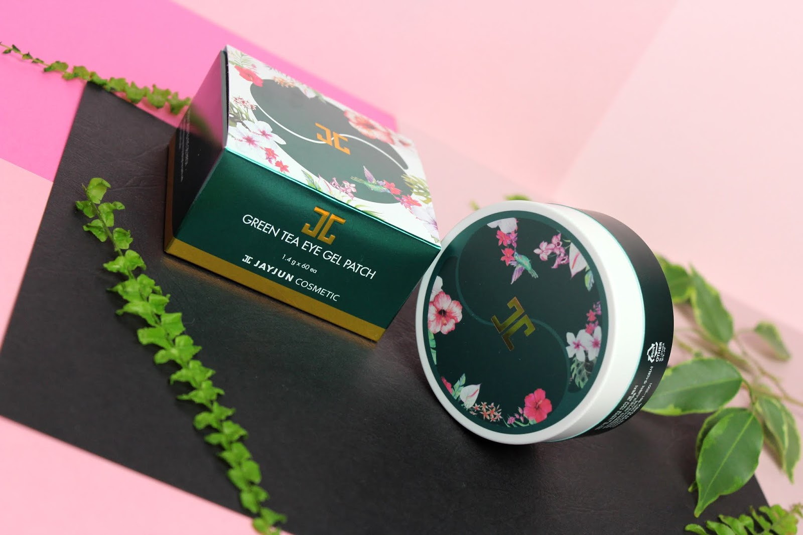 JAYJUN, Green Tea Eye Gel Patch, Hydrożelowe płatki pod oczy, zielona herbata