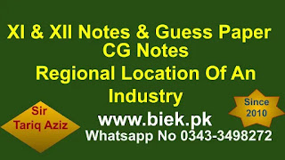 Determine The Regional Location Of An Industry