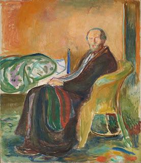 ムンク《スペイン風邪にかかった自画像》1919年、油彩・カンヴァス、150 x 131 cm、オスロ国立美術館