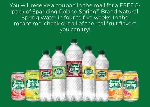 FREE 8-Pack Poland Spring Sparkling Water Coupon BACK AGAIN