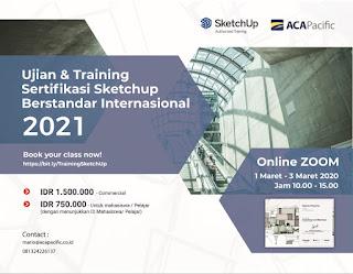 Ujian & Training Sertifikasi SketchUp berstandar Internasional