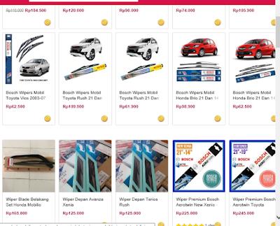 Harga karet wiper di toko online