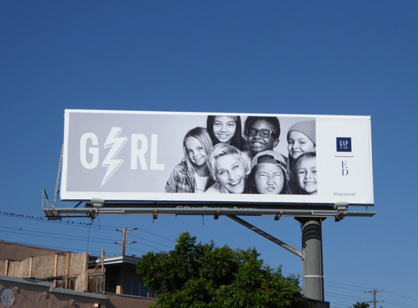 Gap Kids Girl Ellen DeGeneres Fall 2015 billboard