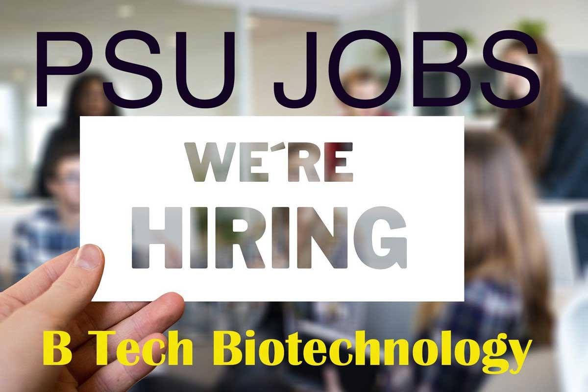 psu jobs through gate for biotechnology