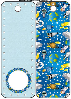 Space Party  Free Printable Bookmarks.