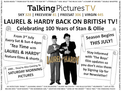 Laurel and Hardy on Talking Pictures TV in 2021