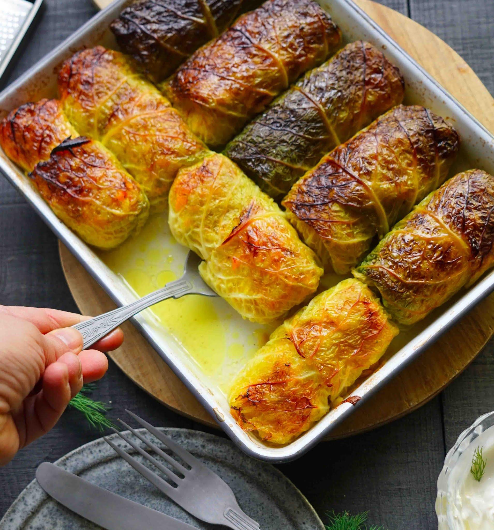 plat réconfortant , choux farcis , recette au saumon