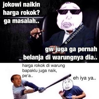 Meme Harga Rokok Naik