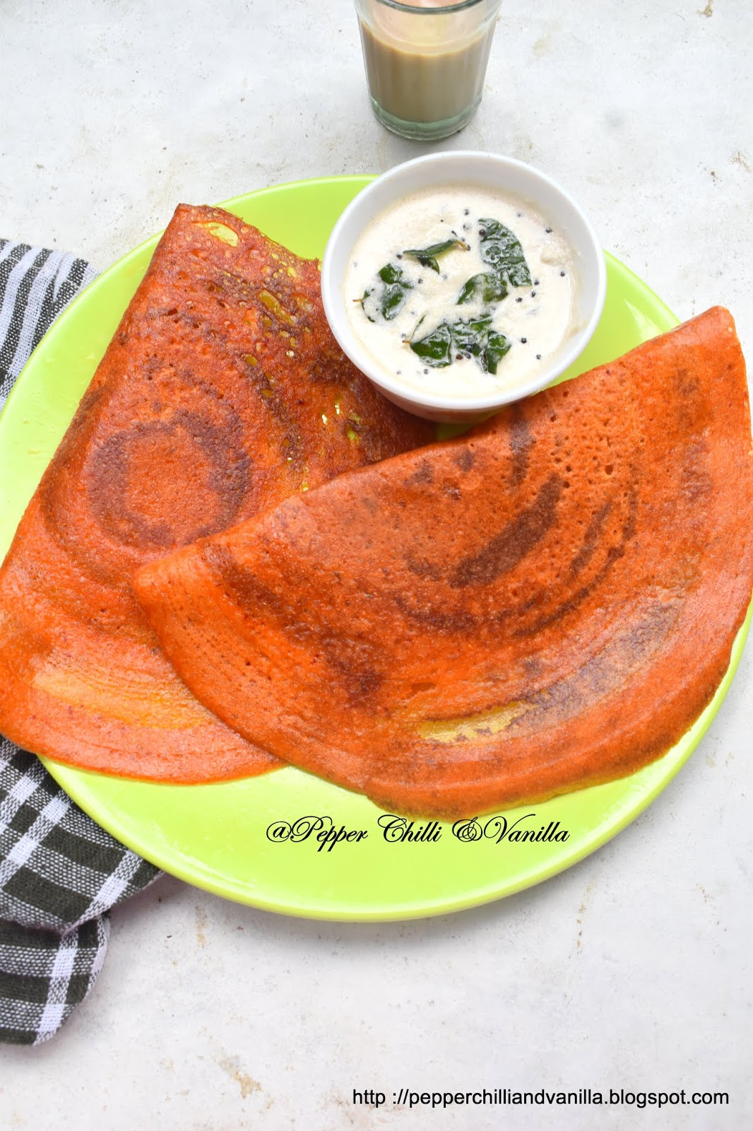 no fermentation tomato dosa