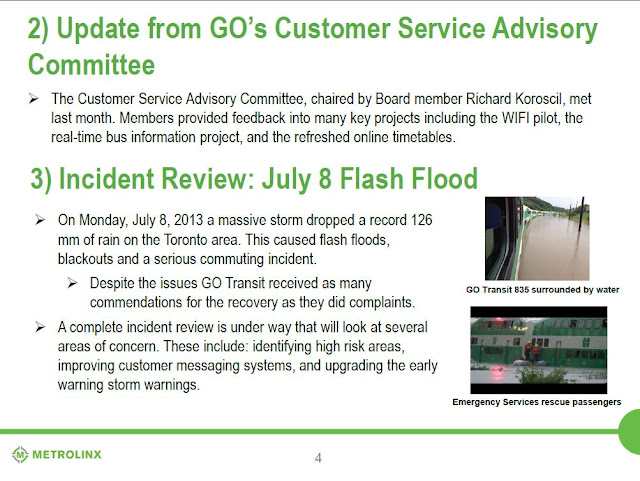 GO Train Flood Toronto Metrolinx