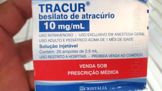homem preso venda medicamento intubacao pacientes