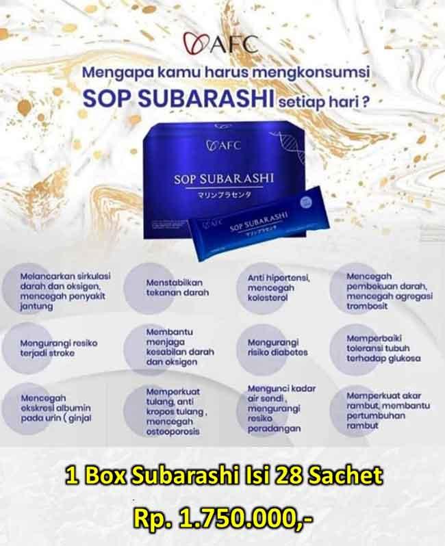Jual SOP Subarashii Asam Urat - Obat Tradisional Kencing Manis, Jual di Tasikmalaya. SOP Subarashii Covid.