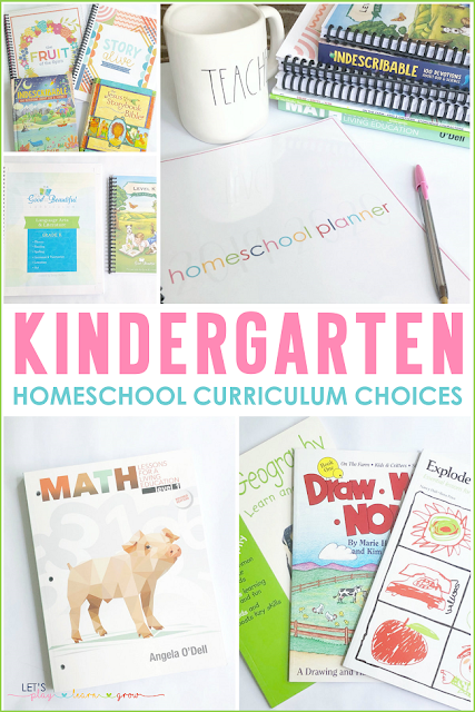 Homeschool Kindergarten Curriculum Choices