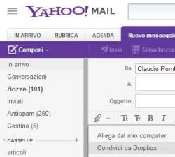 inviare file da Yahoo Mail