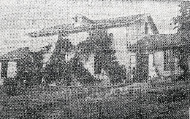 Fotografía de la que fuera casa de Rosario de Acuña en El Cervigón (El Comercio, 9-3-1969)