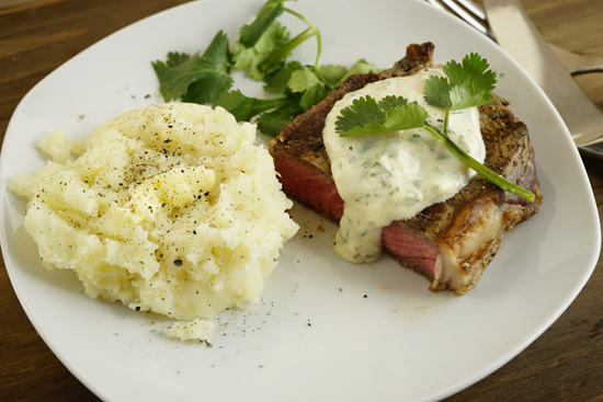Grilled Steak with Cumin Aioli