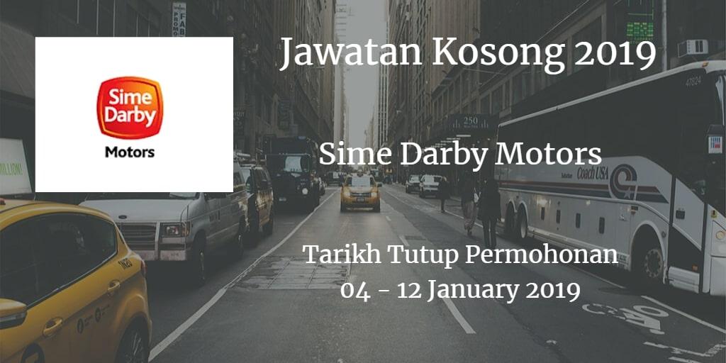 Jawatan Kosong Sime Darby Motors 04  - 12 January 2019