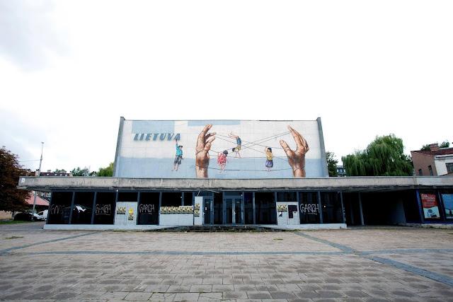 Street Art By Ernest Zacharevic For Vilnius Street Art Festival In Lithuania. 2