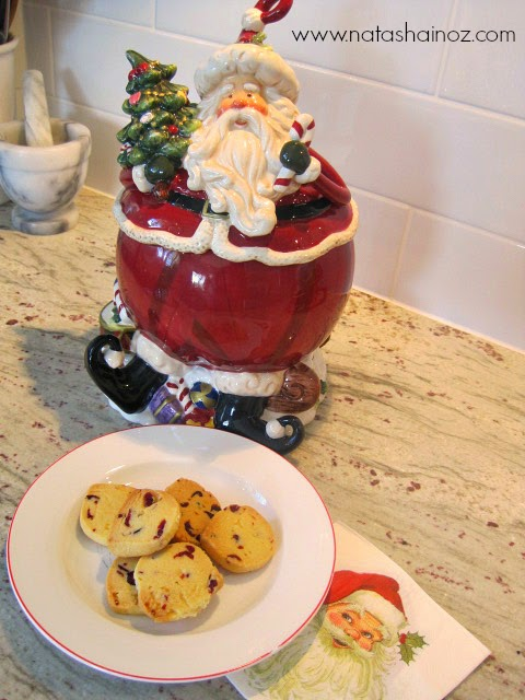 Christmas Recipe: Cranberry Citrus Shortbread Cookies